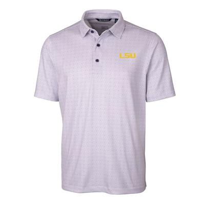 LSU Cutter & Buck Men's Pike Double Dot Print Polo