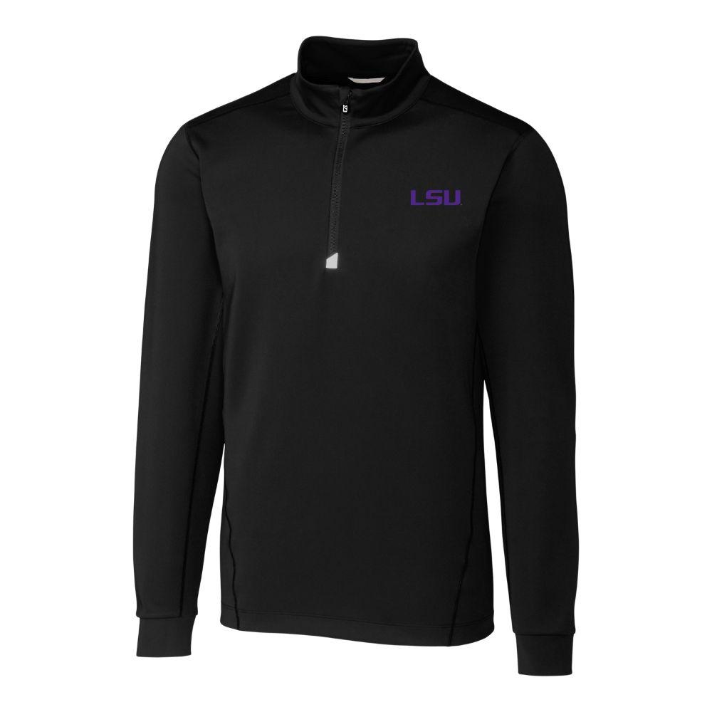 Lsu Cutter & Buck Men's Traverse 1/2 Zip Pullover