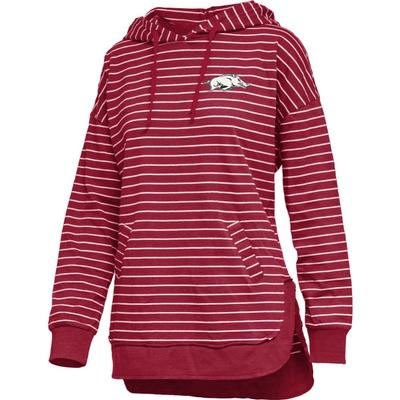 Arkansas Pressbox Women's Cara Striped Hoodie
