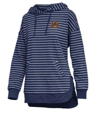 Auburn Pressbox Women's Cara Striped Hoodie