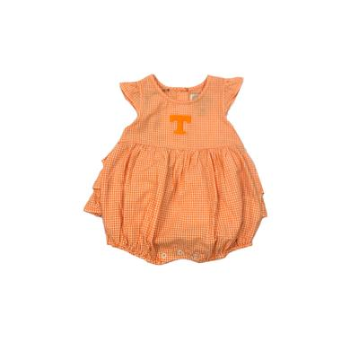 Tennessee Infant Jillian Gingham Ruffle Onesie