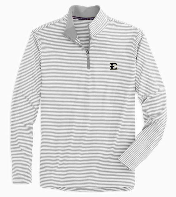 Etsu Men's Tonal Stripe Performance 1/4 Zip Pullover