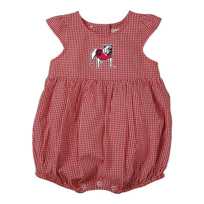 Georgia Infant Jillian Gingham Ruffle Onesie