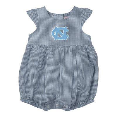 UNC Infant Jillian Gingham Ruffle Onesie