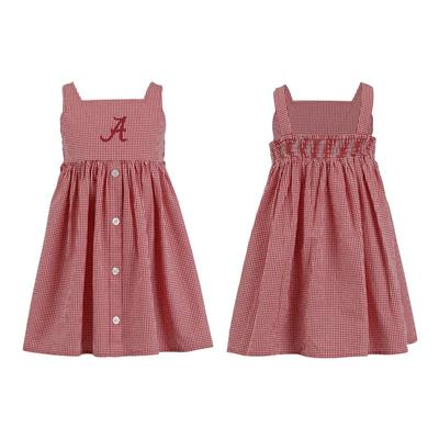 Alabama Toddler Jillian Gingham Ruffle Dress