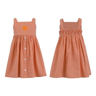 Clemson Toddler Jillian Gingham Ruffle Dress