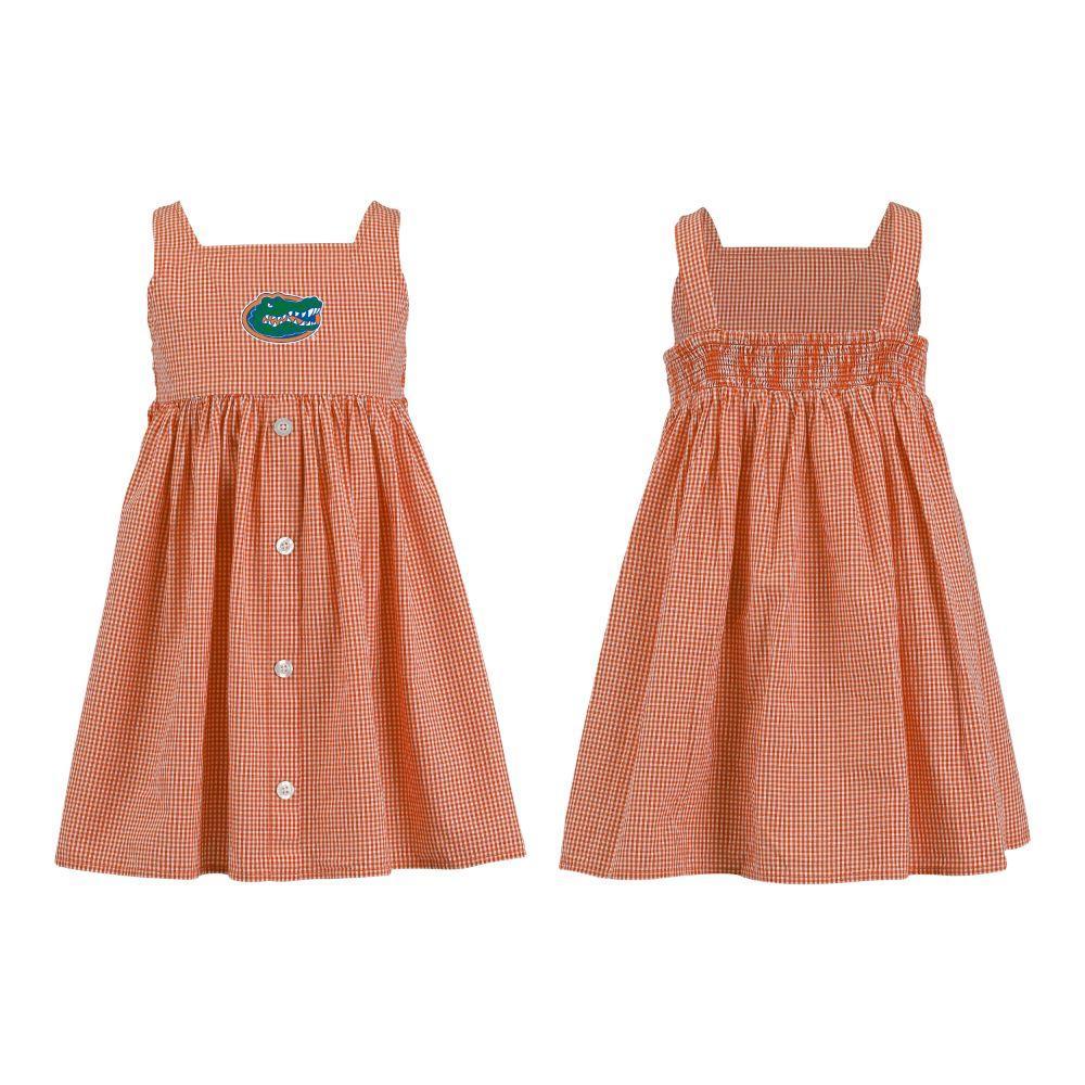 Florida Toddler Jillian  Gingham Ruffle Dress