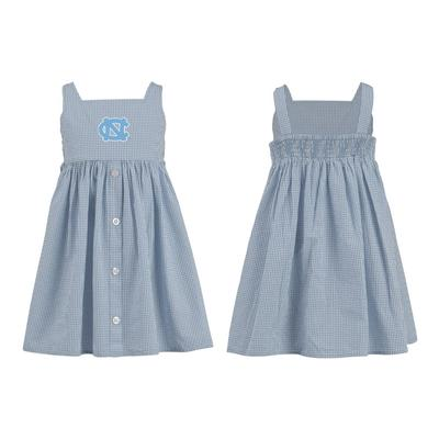 UNC Toddler Jillian Gingham Ruffle Dress