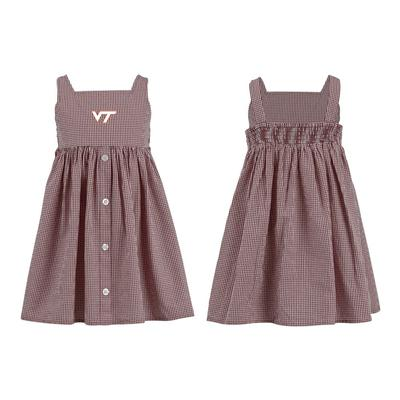 Virginia Tech Toddler Jillian Gingham Ruffle Dress
