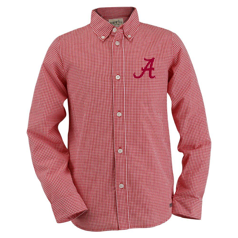 Alabama Toddler Gingham Long Sleeve Woven Button Down