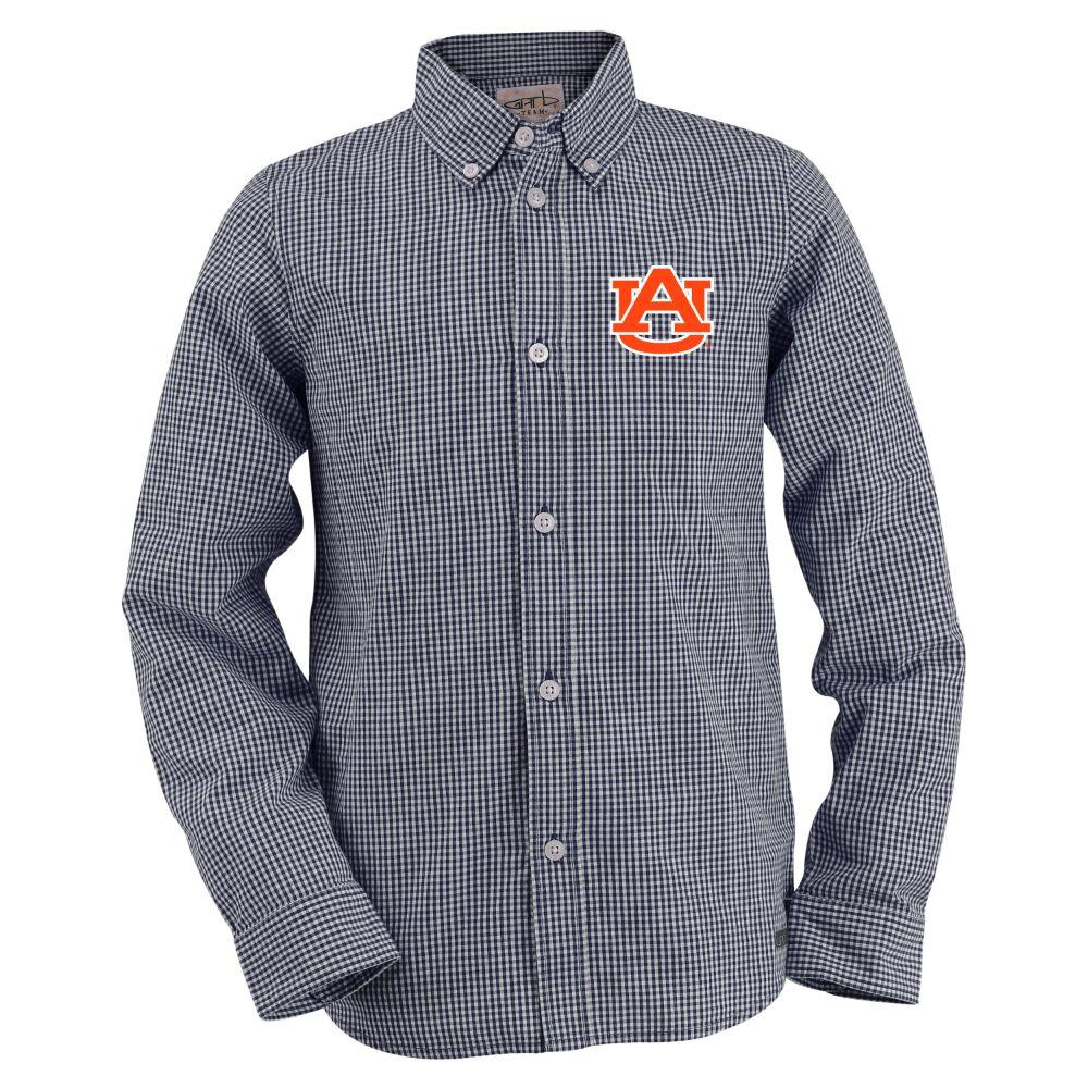 Auburn Toddler Gingham Long Sleeve Woven Button Down