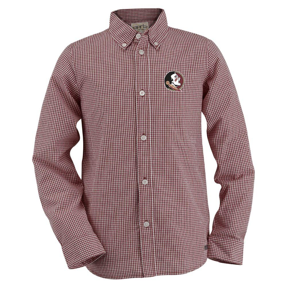 Florida State Toddler Gingham Long Sleeve Woven Button Down