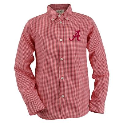 Alabama Youth Gingham Long Sleeve Woven Button Down