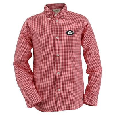 Georgia Youth Gingham Long Sleeve Woven Button Down