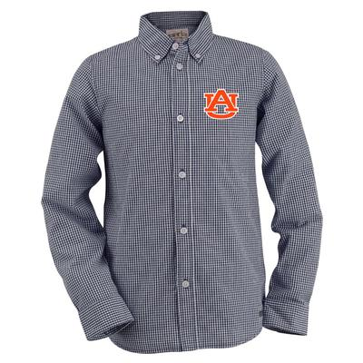 Auburn Youth Gingham Long Sleeve Woven Button Down