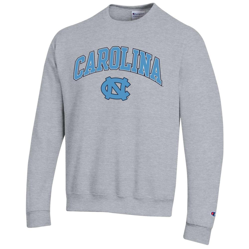 Unc Champion Arch Logo Fleece Crew