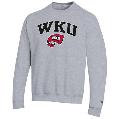 Western Kentucky Arch Logo Fleece Crew HTHR_GREY