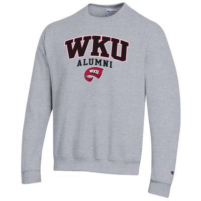 Western Kentucky Alumni Arch Logo Fleece Crew HTHR_GREY
