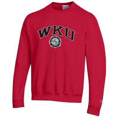Western Kentucky College Seal Arch Fleece Crew