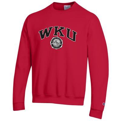 Western Kentucky College Seal Arch Fleece Crew RED
