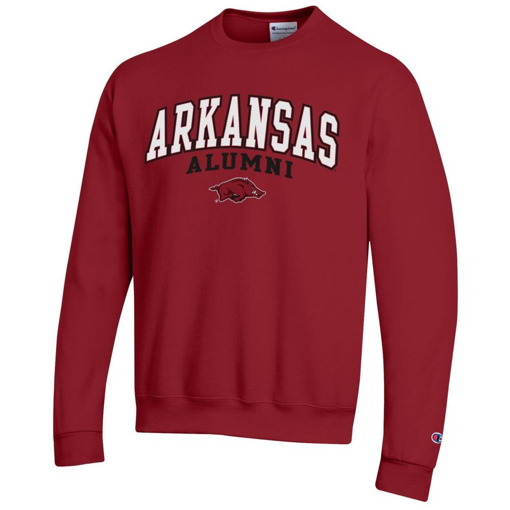 Arkansas Alumni Arch Logo Fleece Crew