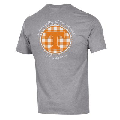 Tennessee Champion Women's Gingham Circle Tee
