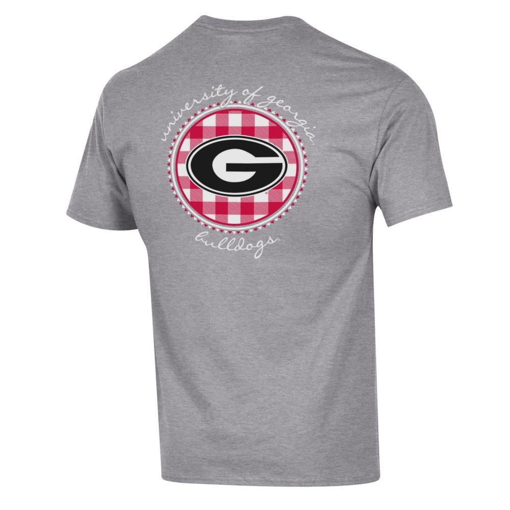 Georgia Champion Women's Gingham Circle Tee