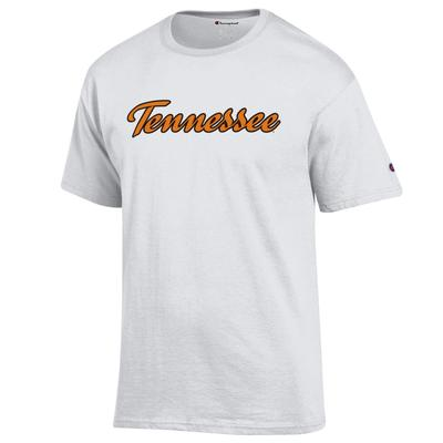 Tennessee Champion Basic Script Short Sleeve Tee WHITE