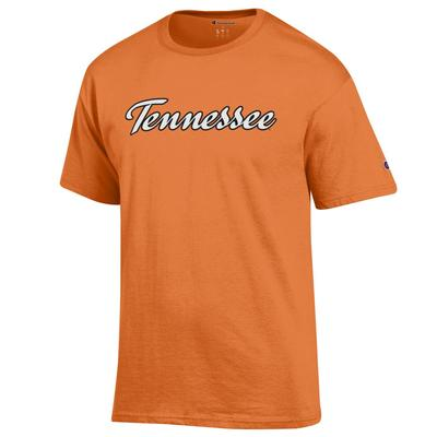 Tennessee Champion Orange Basic Script Short Sleeve Tee