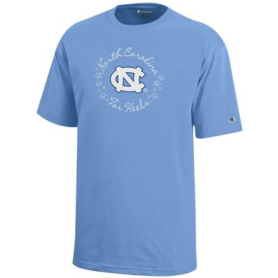 UNC Champion YOUTH Circle Stars Tee