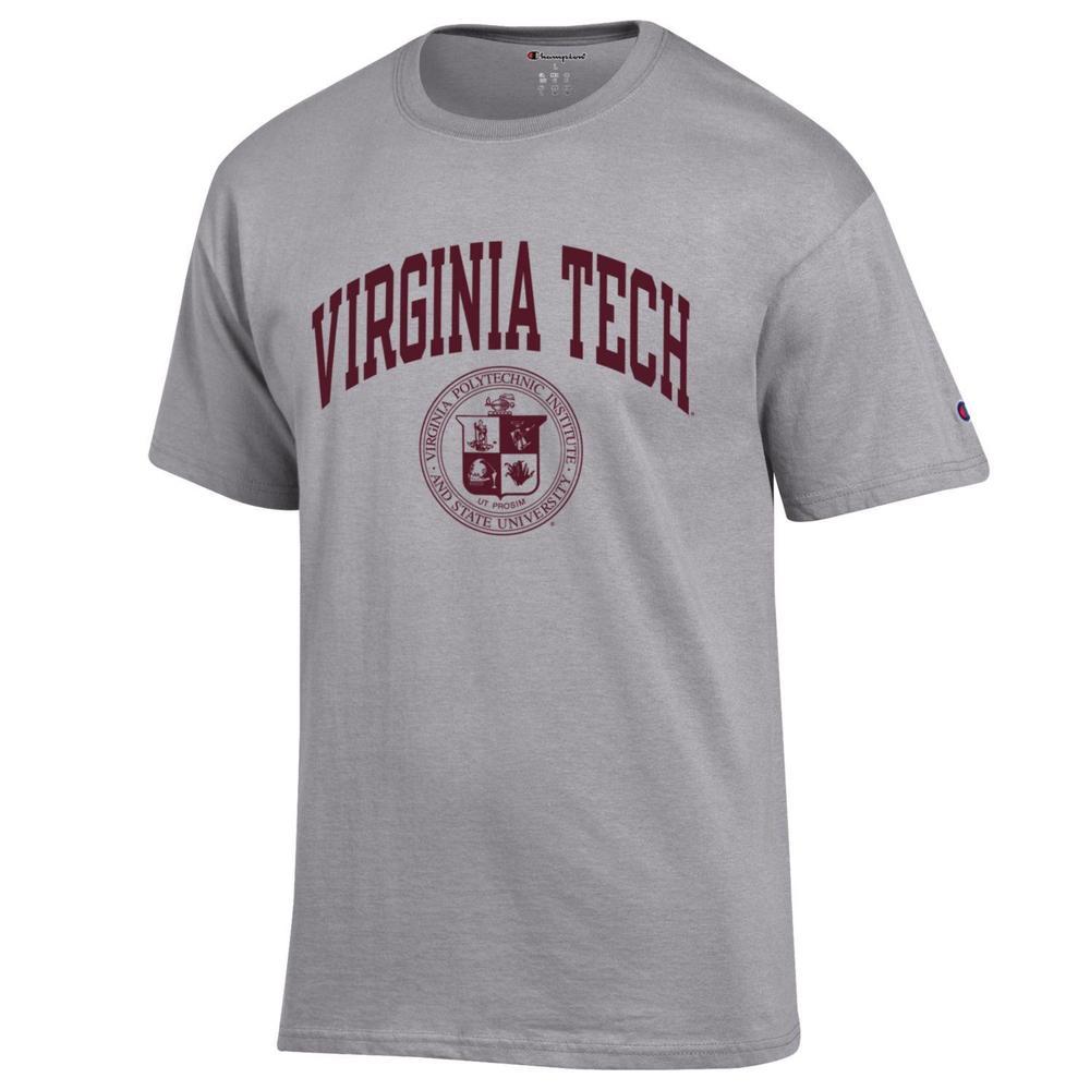 Virginia Tech Champion College Seal Short Sleeve Tee