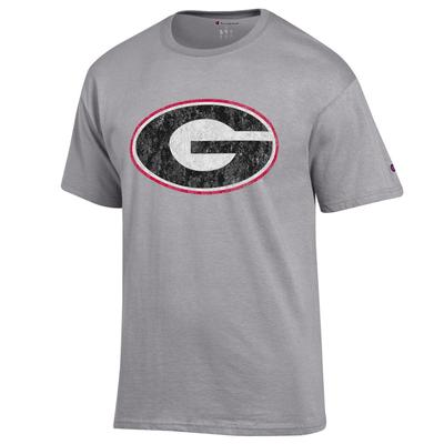 Georgia Champion Giant Logo Grey Short Sleeve Tee