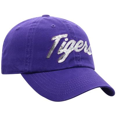 LSU Top of the World Women's Sequin Script Adjustable Hat