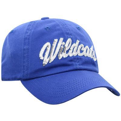 Kentucky Top of the World Women's Sequin Script Adjustable Hat