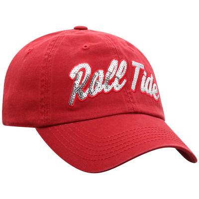 Alabama Top of the World Women's Sequin Script Adjustable Hat