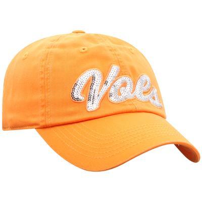 Tennessee Top of the World Women's Sequin Script Adjustable Hat