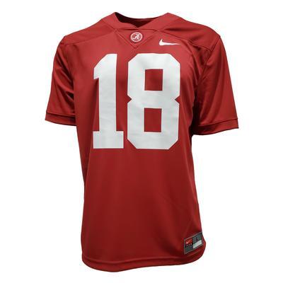 Alabama Nike #17 Men's Game Jersey - Crimson