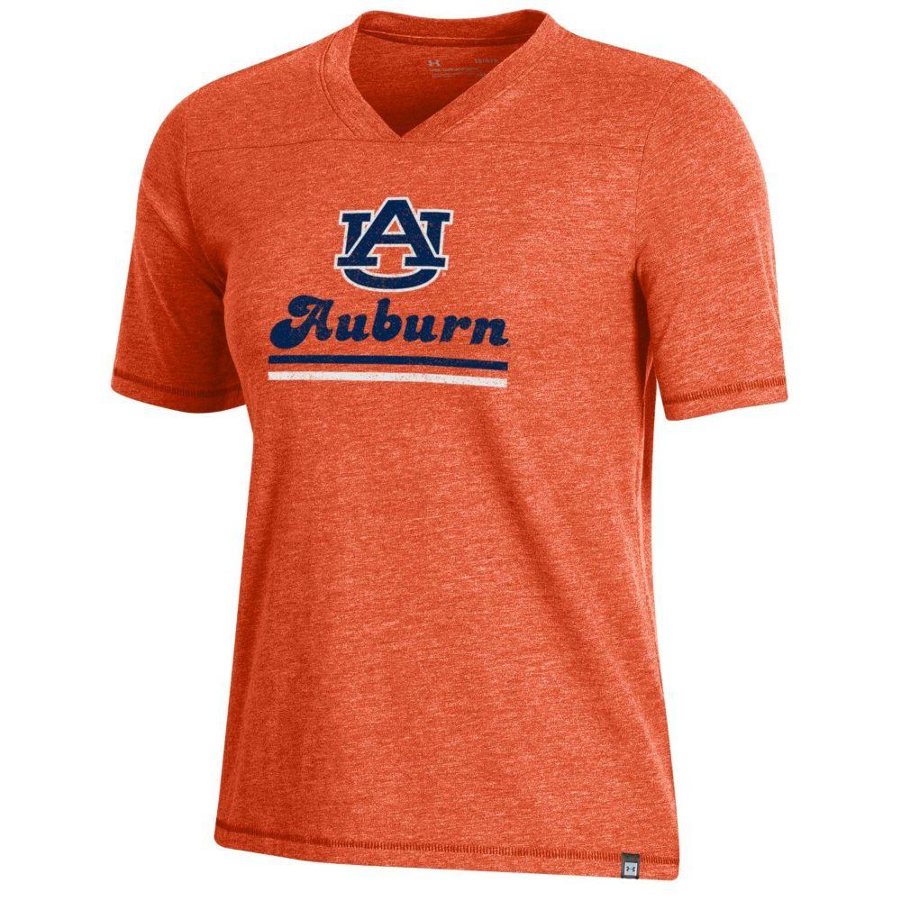 Auburn Under Armour Women's Bi- Blend Bubble Font Tee