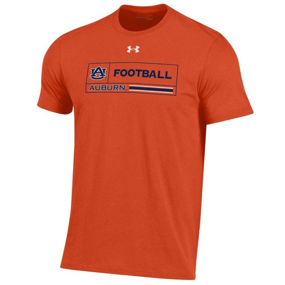 Auburn Under Armour Men's Football Performance Cotton Tee