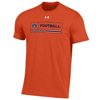 Auburn Under Armour Men's Football Performance Cotton Tee