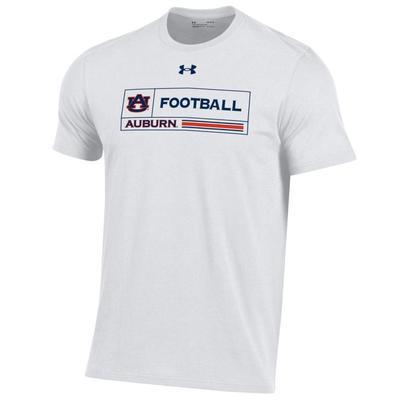 Auburn Under Armour Men's Football Performance Cotton Tee WHITE