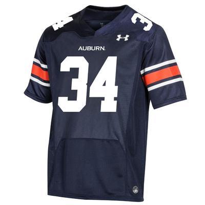 Auburn Under Armour Men's Premier Replica #34 Football Jersey NAVY