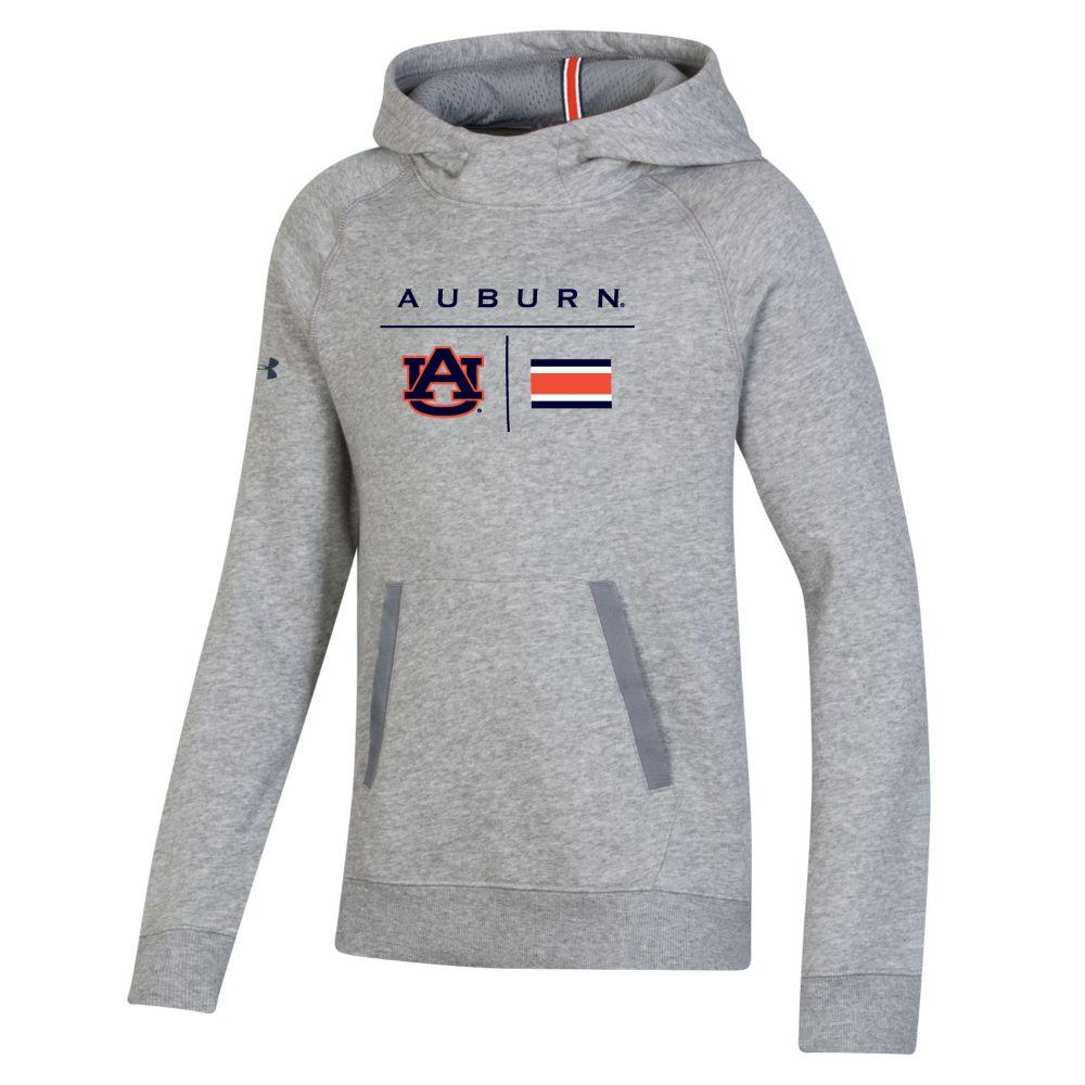 Auburn Under Armour Youth Sideline Campus Fleece Hoodie