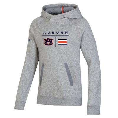 Auburn Under Armour Youth Sideline Campus Fleece Hoodie