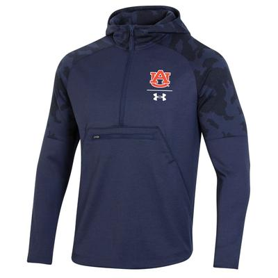 Auburn Under Armour Men's Qualifier Hybrid Fleece Anorak Pullover