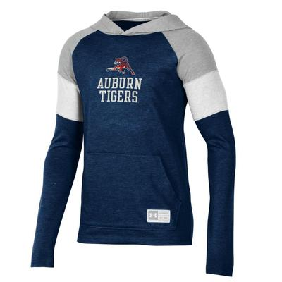 Auburn Under Armour Youth Long Sleeve Hooded Tee