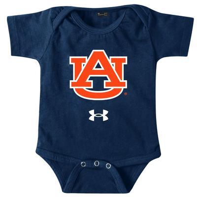 Auburn Under Armour Infant Polyester AU Logo Onesie