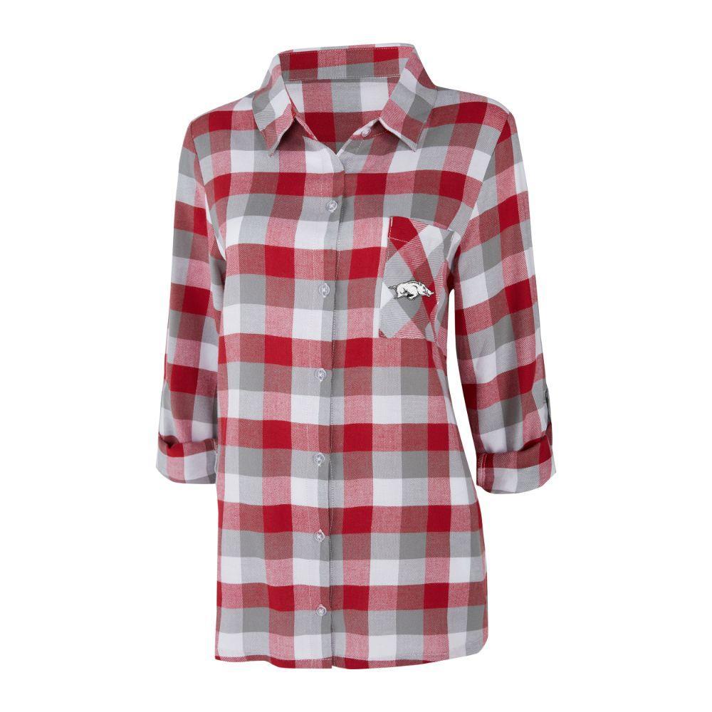 Arkansas Women's Long Sleeve Flannel Nightshirt
