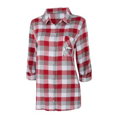 Arkansas Women's Long Sleeve Flannel Nightshirt