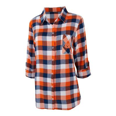 Auburn Women's Long Sleeve Flannel Nightshirt